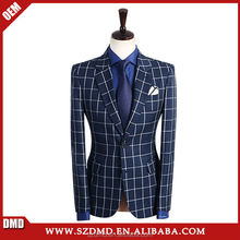 Business Navy Blue Wedding Suits For Men Suits Jacket Pants Vest 3 Pieces Blazer