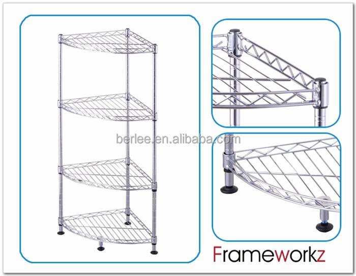 Bathroom Storage 4 Tier Wire Metal Corner Shelf Product Description 900403 Detail Fw Jpg
