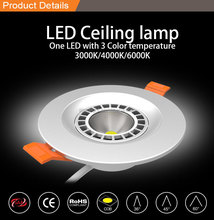 SAA LED Downlight 8w Led Ceilling Downlight One LED With 3 Color Temperature
