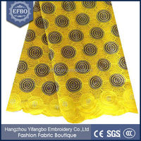 100% Thick cotton african voile and lace fabric / london swiss lace for christmas dresses
