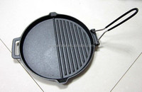 2015 Round Shape New Cast Iron BBQ Grill Pan