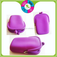 custom mini phone pouch high quality portable silicone wallet jelly coin purse