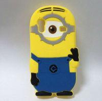 Cute silicone case back cover for Samsung Galaxy Ace Minion Design
