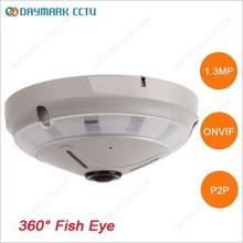 Onvif digital ptz 128g sd card 360 degree surveillance fisheye cameras