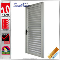 Durable Aluminium exterior louvered door for residential house