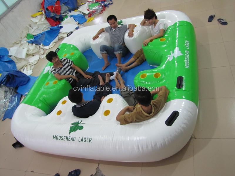 Gonflable le flottante salon l 39 eau escalade jeux gonflable flottant in - Ile flottante gonflable ...