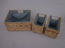 S/3Cut Handle with lining storage basket
