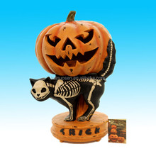 hand painted artificial polyresin pumpkin for sale