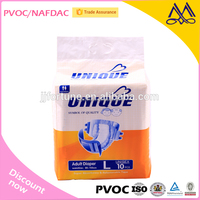 Custom Made Medicare Wholesale Cheap Disposable Printed Adult Diaper/M L XL Size Soft Disposable Adult Nappy factory in China