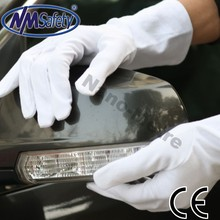 NMSAFETY safe test EN388 100% cotton knitted safe gloves with mini PVC dots