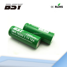 Baisiyu 18500 1200mah 3.7v Li-ion rechargeable battery BSY 18500 18amp battery 36 volt lithium ion battery for electric bicycle