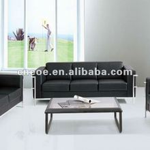 Leather waiting sofa 8143