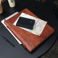 Italian leather portfolio for men - multifuntional pocket/case for ipad