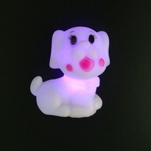 Animal figures with led light, vinyl animal night light, custom made plastic night light