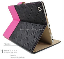 Hot Selling New fashion leather for ipad stand case cover