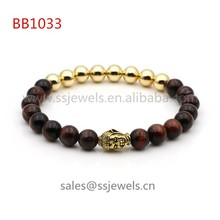 2015 New Arrival Jewelry Health Products For Women High Quality Natural Stone And Copper Beaded Buddha Yoga Bracelet