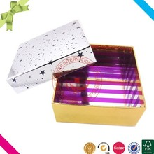 Cardboard fancy paper custom packaging sweet box