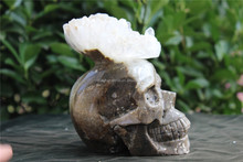 Natural Surprising Crystal Cluster skull Crystal Healing