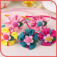 WT30 genuine wholesale delicate fabric high quality Korean children cute hair accessories