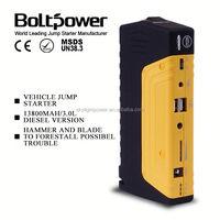 Emergency engine jump starter suitable for 12V auto boat vehicle battery boost 12v starter