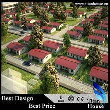 Cheap Zinc and Aluminum Steel Light Gauge Steel Prefabricated House