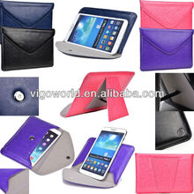 Easy Travel Leather Envelope cover for Asus Eee Pad Slider 10.1-Inch with Smart Stand
