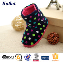 colourful wave point cheap child boot shoe in hot sale