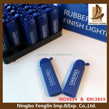 FL-28 Alibaba China custom logo rubber painting refillable plastic lighter