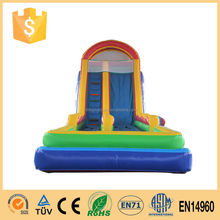 inflatable bounce house with children slide,Commercial Giant inflatable slide for pool