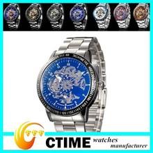 Custom Design vogue watch, IK skeleton automatic mechanical watch