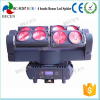 2015 newest!! 4 heads 8x10w RGBW 4in1 led spider beam moving head light