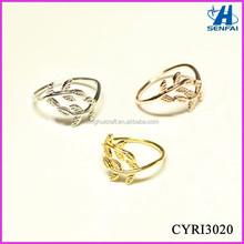 Alibaba Website Fashion Jewelry Beautiful Adjustable Leaf Knuckle Ring Adjustable Rings