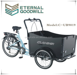 China adult cargo bike three wheel bikes factory tricycle for sale tricycle cargo bikeUB9019