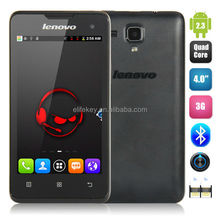 4'' Lenovo A396 Smartphone Android 2.3 Quad Core 1.2GHz 256MB/512 MB 0.3MP/2.0MP Capacitive Touch Screen 800X480 Pixels