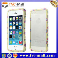 CLEAVE Deff Small Flower Yellow Plastic Bumper Case for iPhone 5 5s