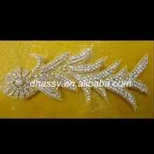 Dhorse DH-515 Sparkling charming bridal sash beaded Rhinestone Applique crystal stone design for dress