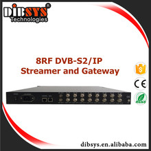 Professional iptv digital satelllite receiver dvbs2 and dvbs to ip Gateway for iptv headend