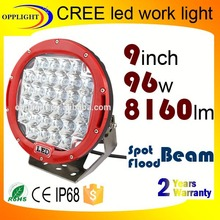 Warranty 2 year 12-30V 9 inch spot beam off road 96W motorcycle led drive light