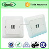 Best European Multiple USB controlled Wall Power Socket With USB