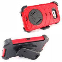 For Samsung S6 heavy duty armor design protective case with belt clip