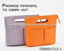 hot sale organizer inner bag/cosmetic bag/canvas cosmetic bag
