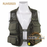 Government Issue Military Style Fishing Vest Tactical Vest With Multi Pocket