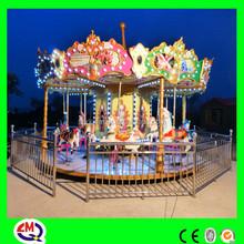 High quality fiberglass indoor model carousel for kids