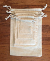 Cotton Jewelry Drawstring Pouch , Pouch Bag