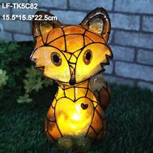 Wholesale solar light home decor solar fox
