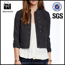Ladies Faux Suede Femme Band Jacket