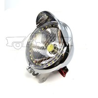 BJ-HL-009 Top sale off road angel eye fog chrome 27 LED headlight motorcycle