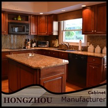 Foshan Magnet Solid Wood Kitchen Units Cabinets Sale
