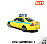 P5 LED Digital Full Color 3G GPS Worldwide Quality taxi aluminum top advertising