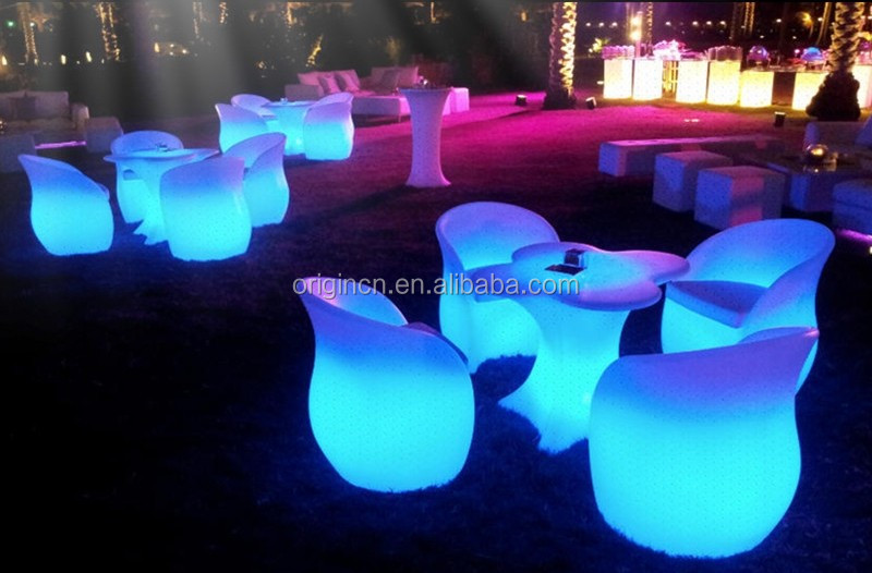 unique flower shaped outdoor led furniture for event luminous night rh origincn en alibaba com buy led outdoor furniture outdoor led furniture rental
